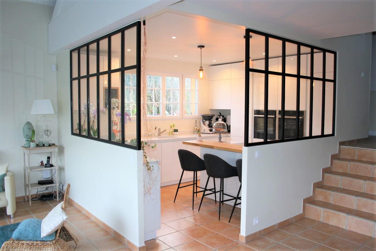 cr ation d 39 un espace cuisine et ses verri res tout autour 91 verri res le buisson cuisines. Black Bedroom Furniture Sets. Home Design Ideas
